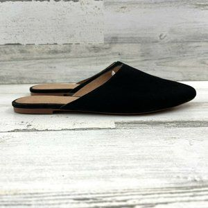Madewell Remi Mule Sandal Suede Slip On Pointe Fla